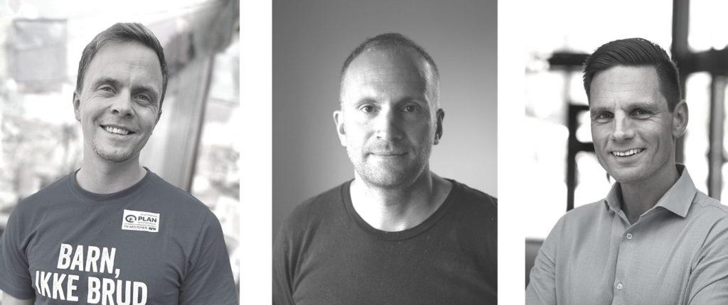 Bilde av foredragsholdere Gaute Sandal, Martin Waadeland og Kjell Martin Nerstad.
